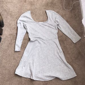 Grey comfy skater dress